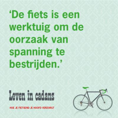 De fiets is een werktuig..