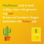 Leven voor gevorderden Esther Mostert quote mediteren is saai
