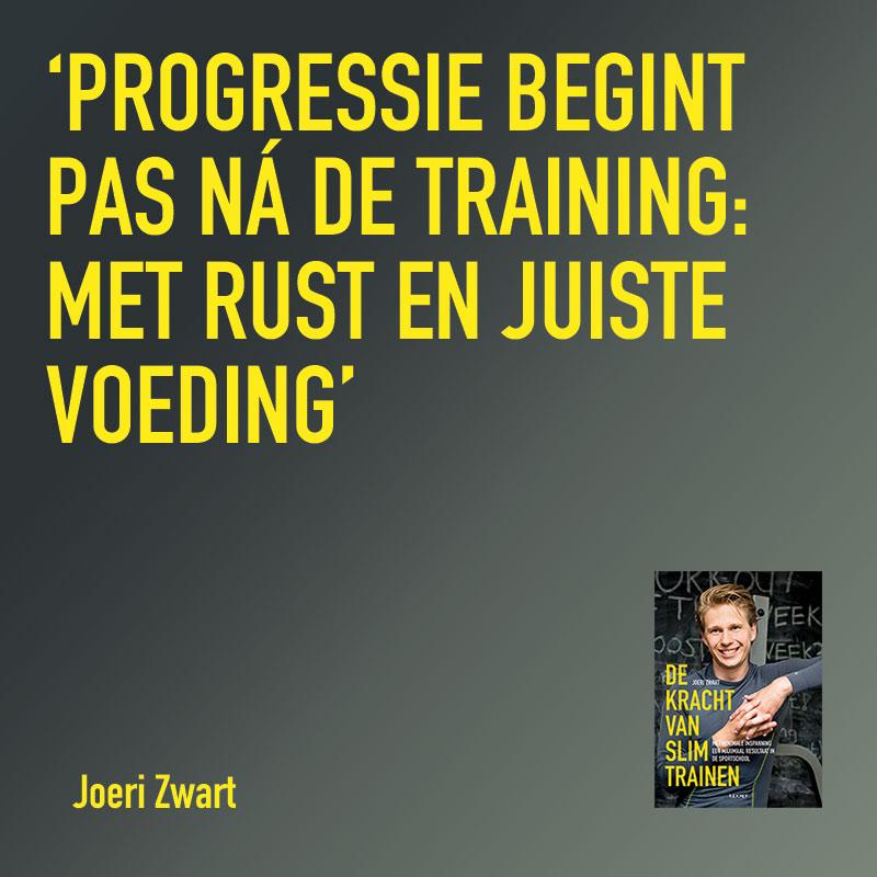Slim trainen Joeri Zwart