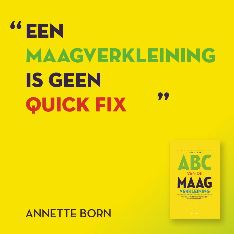 Een maagverkleining is geen quick fix
