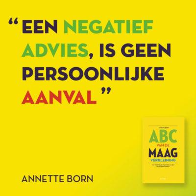 Een negatief advies..