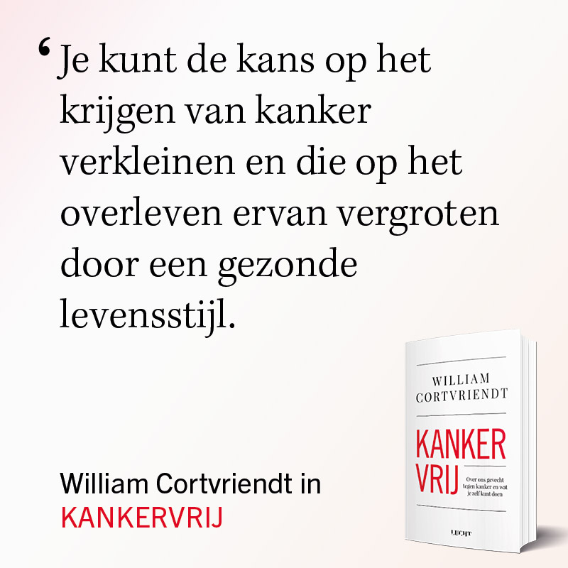 Kankervrij boek William Cortvriendt